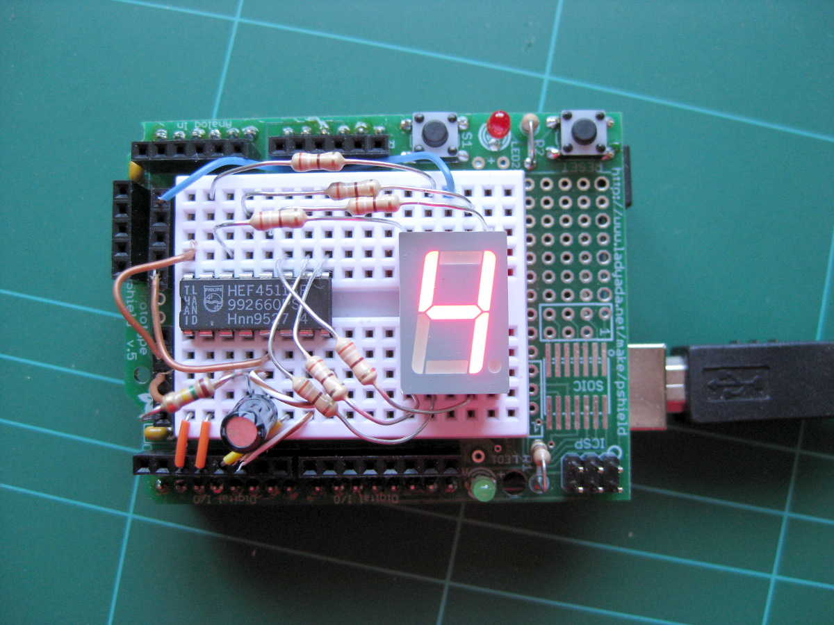 Simple arduino segment display example my