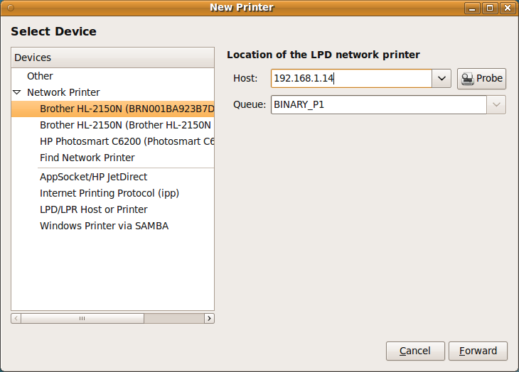 how to set up brother 2170w wireless printer