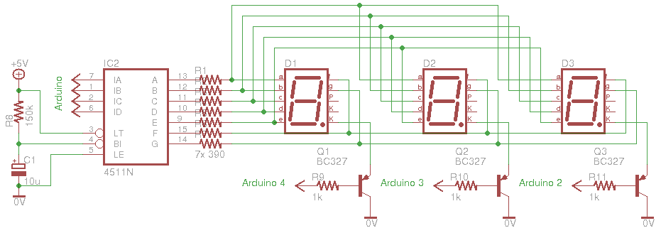 Using a 4 Digit, 7 Segment Display, With Arduino: 7 Steps