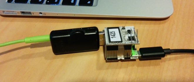 VoCore with USB sound adapter
