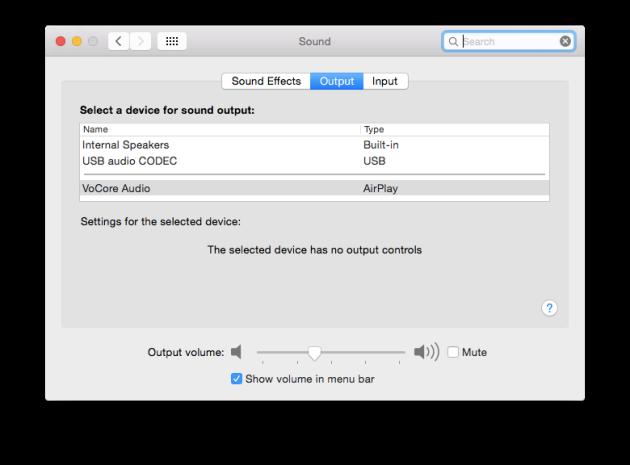 OS X Sound Preferences